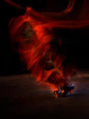 Lucia Pinona (christophe surman) Tags: aquitaine landes montdemarsan movment arteflamenco red flamenco dance longtimeexposure slowshutterspeed