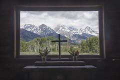 View Through Window, Chapel of the Transfiguration - Grand Teton National Park 7I4A3914 (raddox) Tags: grandteton nationalpark mountain landscape chapel cross chapelofthetransfiguration
