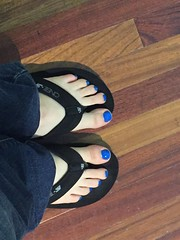 Electric (devistating) Tags: men man feet foot painted nails toes