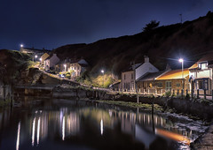 Staithes upstream (Harleycy3) Tags: yorkshireholiday2019 seaside water longexposure evening nighttime waterreflections staithes