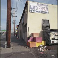 Automotive Auto (ADMurr) Tags: la sfv san fernando valley north hollywood color boxes hasselblad 500cm zeiss 50mm distagon kodak ektar mf 6x6 squaredac496