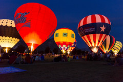 Night Glow for the 4th of July (aaronrhawkins) Tags: balloon hot air glow burn flame 4thofjuly night colorful field provo utah byu lawn crowd fire dark celebration aaronhawkins