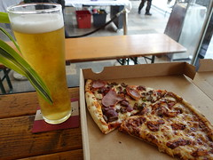 BBQ Chicken and Spicy Beef Pizza with a pint of Orchard ale at The Orchard bar in Preston Market (Tony Worrall) Tags: nourishment nutriments provisions ration refreshment store sustenance fare foodstuffs meals snacks bites chow cookery diet eatable fodder ilobsterit instagram forsale sell buy cost stock images photos photograff things uk england food foodie grub eat eaten taste tasty cook cooked iatethis foodporn foodpictures picturesoffood dish dishes menu plate plated made ingrediants nice flavour foodophile x yummy make tasted meal nutritional drink ale pint pizza slice slicenshake