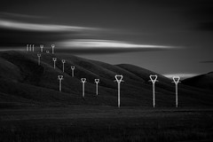 ‪Power lines No. 10‬ ‪www.ColeThompsonPhotography.com ‬ (Cole Thompson) Tags: idaho powerlines longexposure dark noiretblanc noir monochromatic monochrome mono blackwhite blackandwhite bw bnw colethompsonphoto colethompson cole fineartphoto fineart art artphoto