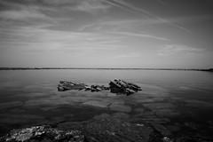 Rocher (jpto_55) Tags: paysage reflet océan océanatlantique noiretblanc xt20 fuji fujifilm voigtlander15mmf45superwideheliarii voigtlanderlens pyrénéesatlantiques paysbasque france aquitaine