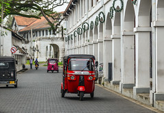 Tuk tuk taxi on street in Galle, Sri Lanka (phuong.sg@gmail.com) Tags: asian auto autorick baby bicycle car crowd crowded cyclist delivery driver fast fuel galle green india men motion motor motorized moving passenger pedestrian people private rick rickshaw rushing service slow speed srilanka street taxi taxicab threewheeler traditional traffic transport transportation tricycle trishaw tuktuk vehicle walking wheels