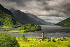 Glenfinnan Monument (jeff.dugmore) Tags: scotland uk britain europe glenfinnan monument highlands westhighlands nationaltrust lochshiel loch waterscape landscape mountain mountainside mountainrange hillside countryside rural nature outside outdoor cloudys stormy grey light sky tree grass green water tranquil picturesque serene moody canon nisi bonnieprincecharles scenic