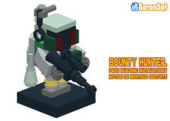 Mini Boba Lego Moc Instructions (baronsat) Tags: lego moc baronsat starwars rotj boba fett building instructions minifigure brickfigure bountyhunter empire strikes back custom model