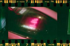 (Just A Stray Cat) Tags: fujifilm fuji fujicolor fujicolour natura 1600 superia overscan frame neon sign night bokeh montreal quebec canada