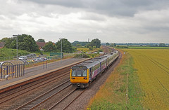 Ulleskelf Units (Andrew Edkins) Tags: pacer class142 142084 class158 ulleskelf yorkshire railwaystation travel trip canon geotagged light dmu railwayphotography passenger july 2019 summer