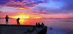 French Polynesia - Tahiti (Jacques Rollet (Little Available)) Tags: sunset tahiti frenchpolynesia couchant people sea mer ciel sky cloud nuage groupenuagesetciel