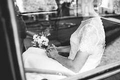 A quelques minutes du grand saut (popz.photographie) Tags: wedding car bw waiting girl beautiful moment alone weddingdress dress