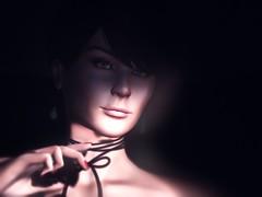 Into the Light (andreastoeckli) Tags: portrait light virtualworld secondlife secondlifephotography lowkey lowkeyphotography black headshot 3d catwa shadow