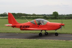 G-CIRY (IndiaEcho) Tags: light england canon eos general leicestershire aircraft aviation leicester aeroplane civil lrc stoughton egbg 1000d airportairfield eurostar ev97 gciry