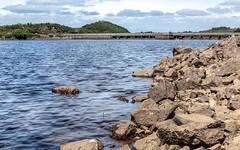 Meldon Reservoir Dam (ivanstevensphotography) Tags: devon dam reservoir water rocks trees clouds