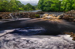River HDR (False colour) (davidwhalley) Tags: tees river highforce waterfall lowforce pennineway northyorkshire hdrlandscape hdr
