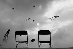 flying away (Wackelaugen) Tags: chair chairs kites sky canon eos photo photography stephan wackelaugen black white bw blackwhite blackandwhite mono noiretblanc schwarz weis schwarzweis