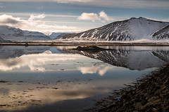 Lake and peaks (JusKlaud) Tags: iceland lake water reflection peaks outdoors explore adventure travel sunny naturelovers