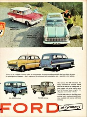 1960 Ford Taunus Ad (Argentina) Pg. 2 (aldenjewell) Tags: 1960 ford taunus germany 12m 17m sedan station wagon fk1000 omnibus minivan pickup argentina ad