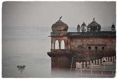 The Second Trip (The Spirit of the World ( On and Off)) Tags: varanasi india gangesriver ganges river famousriver holyriver holy rajasthan mist morning morninglight architecture muslim mosque atmosphere islam hindu buddhism
