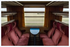 Alone again in the lap of luxury (Nodding Pig) Tags: compartment railway train carriage lhcs france burgundy bourgogne sncf musicalreference 2018102601360101border