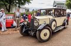 Arriving in Style (daisyglade) Tags: goodwoodrevival2014 arriving budget vip cars experience planestrainsautomobiles manwithdolly rr chauffeur carryoncamping