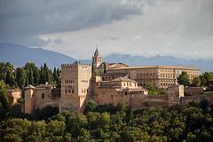 Alhambra View (Katka B.) Tags: spain alndalucia autumn alhambra moorish castle old medieval unesco view landscape ills mountains sierra nevada granada