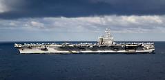 "USS Reagan transits alongside the amphibious assault ship USS Wasp Talisman Sabre 2019 (#PACOM) Tags: wasp lhd1 ts19 talismansabre reagan cvn76 talismansaber coralsea usindopacificcommand ""usindopacom"