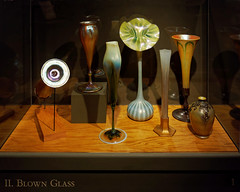 Iredescent Blown Glass Vases (Whidbey LVR) Tags: lyle rains lylerains olympus em5ii florida orlando winter park morse museum charles hosmer tiffany glass vase