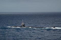 "USS Key West transits alongside the amphibious assault ship USS Wasp as part of Talisman Sabre 2019 (#PACOM) Tags: wasp lhd1 ts19 talismansabre talismansaber usskeywest ssn722 amphibious coralsea usindopacificcommand ""usindopacom"