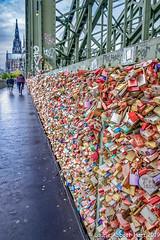 20190510 Cologne's Locks of Love 26398-Edit (Laurie2123) Tags: cologne fujixt2 hohenzollernbrückebridge locksoflove vacation laurie2123 laurieturner laurietakespics laurieabbotthartphotography laurieabbottturner colognecathedral bridge locks