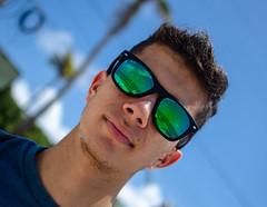DSC_3158 (johnmoralesh) Tags: portrait summer sunshine shadows sky bluesky blue glass closeup focus man beach relax break smile face photography newphotographer photoshoot