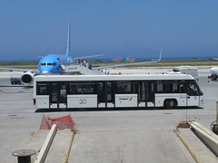 Rhodes Airport Bus and TUI (deltrems) Tags: aeroplane jet plane aviation rodos rhodes greek greece island diagoras bus public transport airside shuttle tui thomsons