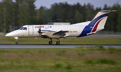 SwiftAir EC-HTS, OSL ENGM Gardermoen (Inger Bjørndal Foss) Tags: echts swiftair embraer emb120 brasilia osl engm gardermoen cargo
