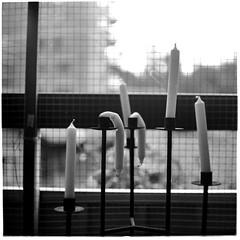 Tired candels (Mattias Lindgren) Tags: square medium format 6x6 pentacon six tl film carl zeiss jena mf ddr bw foma scan fomapan 100 mc biometar 2880 80mm f28 8 minutes rodinal 150 analog 120film 8minutes 80mmf28 mcbiometar2880carlzeissjena carlzeissjena fomapan100 mediumformat pentaconsixtl rodinal150