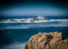 Rocks in the Mist No.6 (CDay DaytimeStudios w /1 Million views) Tags: ca pebblebeach water 17miledrive pacificcoasthighway bluesky california highway1 montereyca pacificgrove carmelca ocean pacificcoast beach sky seascape coastline landscape rocks montereybay