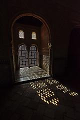 Nasrid Palace - Light and Shadows (thomaswoyke) Tags: andalusien nasridpalace pattern light shadows window granada spain