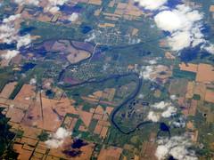 Heading straight across Michigan (oobwoodman) Tags: aerial aerien luftaufnahme luftphoto luftbild zrhord michigan usa america
