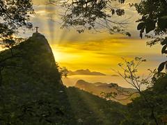 Nascer do Sol com o Cristo Redentor (Leonardo Martins) Tags: nascerdosol pôrdosol cristoredentor florestadatijuca