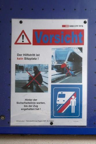 Unterterzen Station SBB