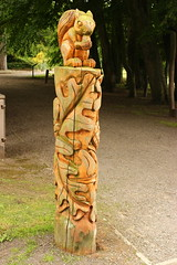bowes museum (kokoschka's doll) Tags: bowes museum carving wood post sculpture