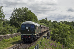 D5054 2E37 (DM47744) Tags: east lancashire railway train trains diesel diesels engine travel traction ralilways preserved locomotive loco rail nikon d3100 d5054 24054 sulzer br green type 2 burrs country park