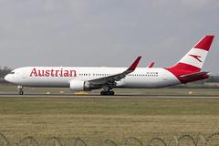 OE-LAE | Austrian Airlines | Boeing B767-3Z9(ER)(WL) | CN 30383 | Built 2000 | VIE/LOWW 04/04/2019 (Mick Planespotter) Tags: aircraft airport 2019 nik sharpenerpro3 plane planespotter airplane aeroplane spotter oelae austrian airlines boeing b7673z9erwl 30383 2000 vie loww 04042019 b767 flight schwechat vienna
