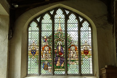 Sts Dorothea, John and Paul 1990's stained glass, All Saints Church Walsoken (Paul Braham Photography) Tags: church medieval historic norman religion religious architecture romanesque
