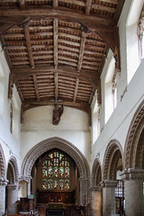 Nave and Chancel, All Saints Church Walsoken (Paul Braham Photography) Tags: church medieval historic norman religion religious architecture romanesque