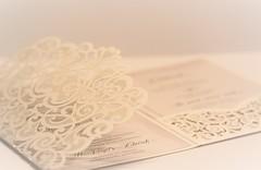 Lovely Lace (Baking is my Zen) Tags: weddinginvitation lace canonrebelt1i lookingcloseonfriday card highkey