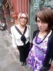 A Cheeky Snap (Rachel Louise Swann) Tags: starrynowhere emma rachel rachelswann tgirl public dress high heels transvestite crossdresser