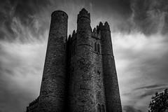 Rapunzel (Gullivers adventures) Tags: irish castle church rapunzel bnw explore blackwhite flickr love landscape monochrome photography cloudsscape moody ancient vikings