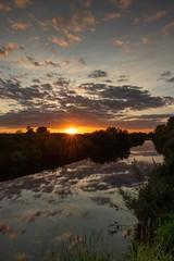 River Ouse Sunset. (Darren Speak) Tags: evening summer reflections water river sunset york riverouse