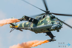Bulgarian Air Force Mi-24V Hind (Sam Wise) Tags: bulgaria bulgarian air force soviet graf ignatievo helicopter combat aircraft gunship attack mi24 mil hind krokodil crocodile camouflage smoke smokewinder